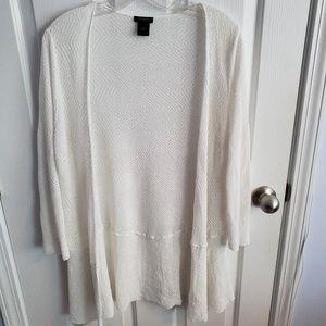 Anne Taylor White Sweater Size L